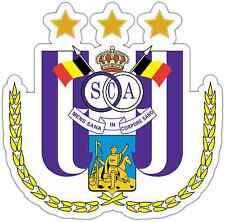 "RSC Anderlecht FC Belgium Football Soccer Car Bumper Sticker Decal 5""X4.5"""