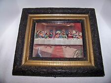 Last Supper Picture Hand Made Heavy Antique Frame with Glass