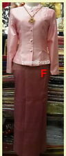 Thai Costume National Wedding Outfit Silk Synthetic Skirt Top Oriental Dress