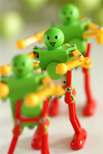 3x Real Ritzy Child Plastic Clockwork Spring Wind Up Dancing Robot Toys Gift MC