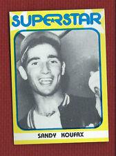SANDY KOUFAX 1982 SUPERSTAR 1st Series #16 Tough! HOF