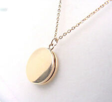 ANTIQUE CHILDS LOCKET circa 1890-1910  10K YELLOW GOLD with CHAIN