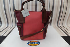 FOSSIL Genuine Leather EMERSON Satchel Cross Body Hand Bag BNWT RRP £169