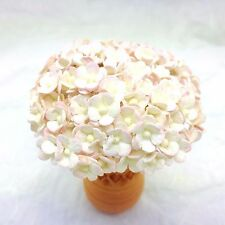 100 Tiny Pink-White double layers paper daisies mulberry paper flowers  #517