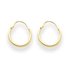 14K Yellow Gold Hollow Tube 8mm Endless Hoop Earrings Madi K Children's Jewelry