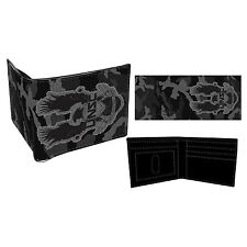 Halo USNC Patch Logo Camouflage Black Bifold Wallet Mens Boys Gamer Xmas Gift