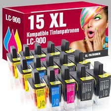 15 Druckerpatronen für Brother DCP 115 C LC900