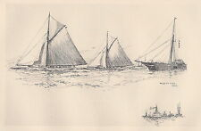 "Illustration from ""The Lawson History of America's Cup"" Vigilant and Valkyrie II"