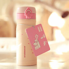 Stainless Steel Cherry Blossom Travel Mug Water Vacuum Flask Thermal Bottle Cup