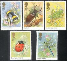 GB 1985 Bee/Dragonfly/Ladybird/Insects/Beetles/Nature/Conservation  5v set s4554