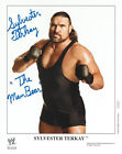 Sylvester Terkay signed 8x10 color wrestling WWE promo photo P-1147 ECW RARE WWF