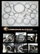 2007 y Bmw Mini Cooper R55 R56 R57 interior de cromo Dial Trim Kit 27pc. Nuevo