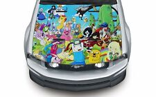 High quality hood wrap vinyl decal (suitable for any car) Adventure Time