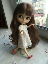 "12"" Neo Nude Brown hair Joint Body Blythe doll From Factory  JSW10006"