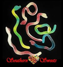 TROLLI SOUR SNAKES 1KG COLOURFUL GUMMY LOLLIES LONG SNAKES GLUTEN FREE