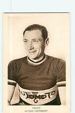 Lucien FIXOT, Signée au dos. Autographe manuscrit. Cyclisme. Automoto 1951