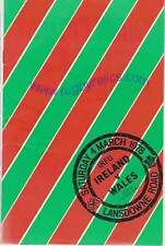 IRELAND v WALES 1978 RUGBY PROGRAMME GRAND SLAM SEASON FOR WALES