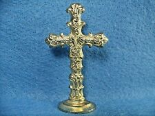 Vintage Mid-Century Brass Flower Cross Merry Christmas Wax Seal Stamp