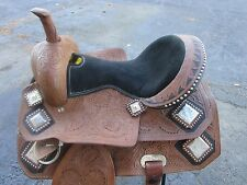 USED 16 ROPING ROPER BARREL RACING TRAIL PLEASURE LEATHER WESTERN HORSE SADDLE
