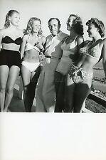 CHARLES VANEL& STARTLETTES PIN-UP FESTIVAL DE CANNES 1947 VINTAGE PHOTO R70