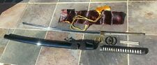 """""""You Build"""" Vintage Paul Chen Hanwei Katana """"Kit"""" with High End Blade and Parts"""
