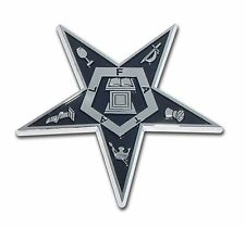 Eastern Star Chrome Plated Car Auto Truck Emblem Free Shipping (NEW)