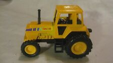 Farm Tractor In A Yellow 138 Scale Diecast Pullback Action By Shing Fat    dc874