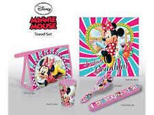 Disney MINNIE MOUSE 5pc Travel Set - Towel, Cup, Toothbrush Cover, Brush, Bag
