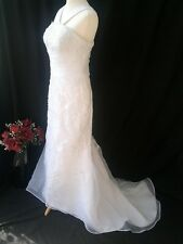 NEW WHITE LACE MERMAID WEDDING DRESS SIZE 10