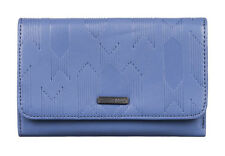 "BRAND NEW +TAGS ROXY LADIES GIRLS TRI-FOLD WALLET PURSE ""BEACH SIDE"" BLUE BNWT"