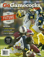 SOUTH CAROLINA GAMECOCKS JADEVEON CLOWNEY HAND SIGNED GAMECOCK MAGAZINE W/COA