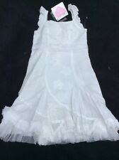 BNWT Girls White Appliqué Dress By CHILLIFUEGO (4-5 Yrs) *FREE UK P&P*