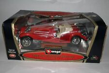 BURAGO 1936 MERCEDES BENZ 500 K ROADSTER RED 1/20TH SCALE
