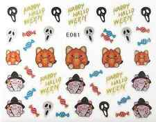 NAIL ART STICKERS AUTOCOLLANTS: DECO HALLOWEEN BONBONS CHATS SORCIERES MASQUES