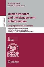 Human Interface and the Management of Information. Designing Information Environ