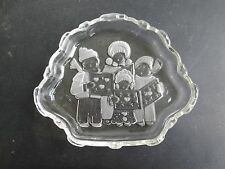 "Mikasa Carolers Collection Sweet Meat Dish 8 1/4"" Crystal"