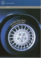 Prospekt Mercedes Benz Leichtmetall Rad 4 90 1990 Broschüre Leichtmetallfelgen