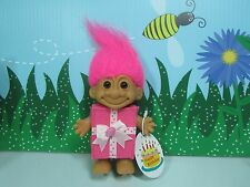"BIRTHDAY PRESENT GIRL w/HANG TAG - 5"" Russ Troll Doll - NEW - MISSING HAIR BOW"