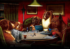 Dogs Playing D&D (Call of Cthulhu version) full color poster