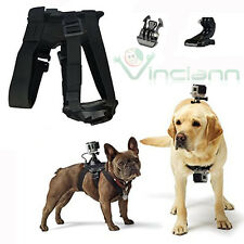 Pettorina dorso+petto cane supporto riprese video per Gopro HD Hero 4 3+ 3 2 1