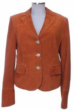 Piu & Piu Jacke 40 (D) Veloursleder orange Lederjacke Blazer top