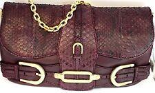 Jimmy Choo Python/Nappa Leather Handbag Plum Color