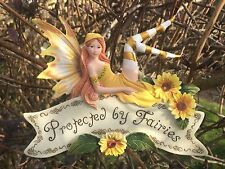 Protected By Fairies - Hanging Pixie Fairy Sign
