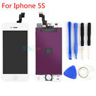 """White LCD Touch Screen Display Digitizer Assembly Replacement For iPhone 5S 4"""""""