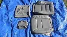 91-95 Mercedes W124 E-class 320 Driver Left Side Grey Gray Leather Seat Covers