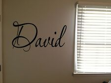 Custom David Boys Room Name Nursery Baby Kids Vinyl Wall Art Quote Sticker