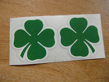 Alfa Romeo Cloverleaf decals - 65mm sticker pair - green + white