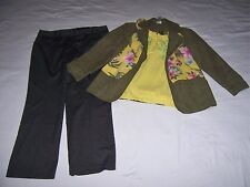 Lot 8 Women Plus Size XL 16 Clothing Outfit Pants Top Scarf Jacket Kim Rogers