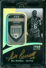 7/10 Bill Russell 2014-15 Panini Eminence All-Star 1 Ounce Silver Auto Autograph