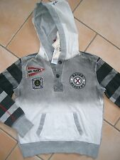 (63) RARE-The Kid Boys Kapuzen Sweatshirt dirty used look Druck & Aufnäher gr.92